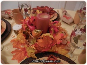 Fall Leaves Tablescape