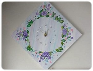 DIY Canvas Clock with Bling