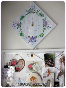 Canvas Clock with Bling