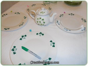 St. Patrick's Day Sharpie Plates
