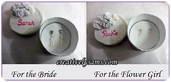 Earrings for the Bride & Flower Girl