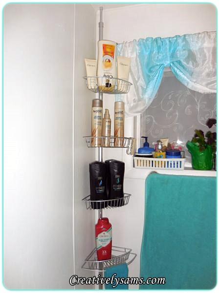 Bathroom Corner Shelf Re-Do