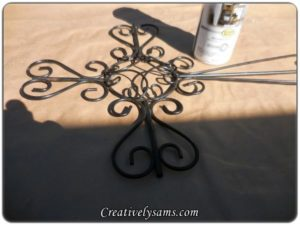 Framed Wrought Iron Cross
