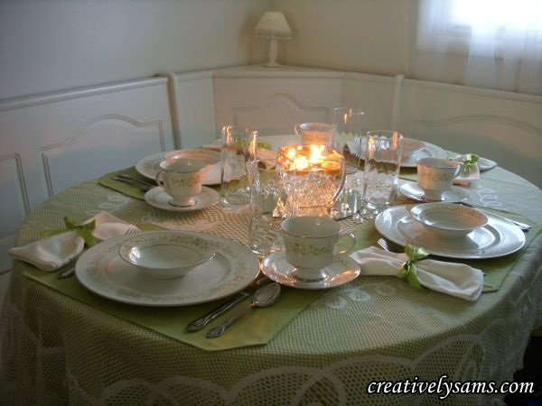 Celery Green Tablescape Lit